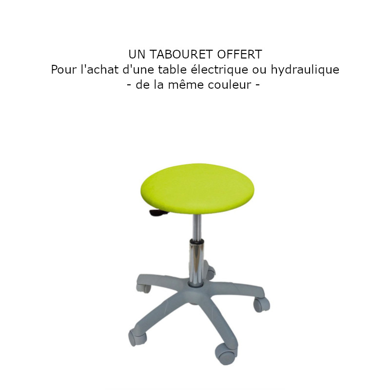 C6103W Table électrique 3 plans Ecopostural - tabouret - Malys Equipements