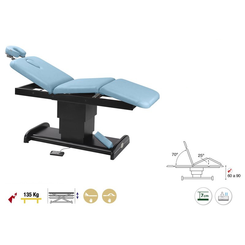 C6103W Table électrique 3 plans Ecopostural + 1 tabouret OFFERT